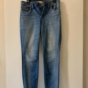 Madewell light wash high riser skinny jean